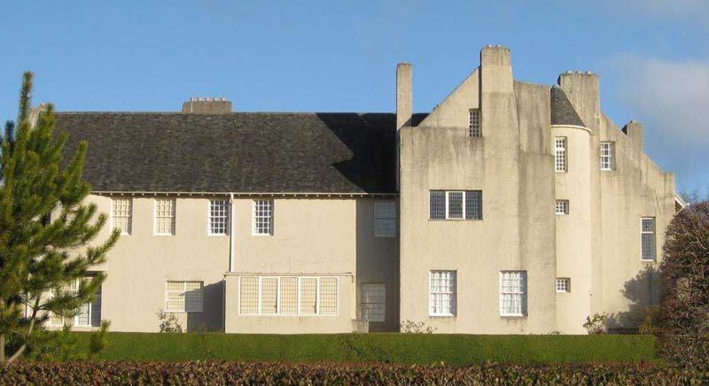 Hill House, Helensburgh, Scotland (Дом на холме в Хелеснбурге, Шотландия). Charles Rennie Mackintosh. Чарльз Рени Макинтош
