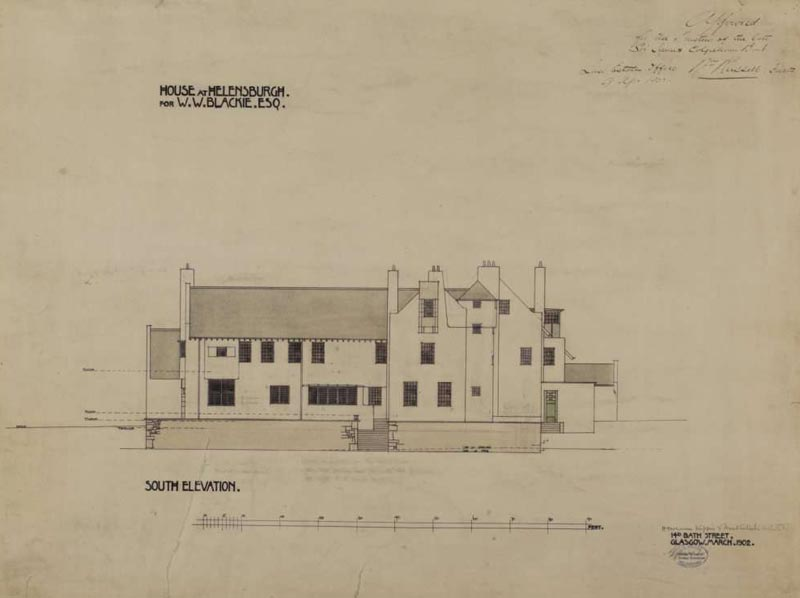 Hill House, Helensburgh, Scotland (Дом на холме в Хелеснбурге, Шотландия). Charles Rennie Mackintosh. Чарльз Рени Макинтош. План