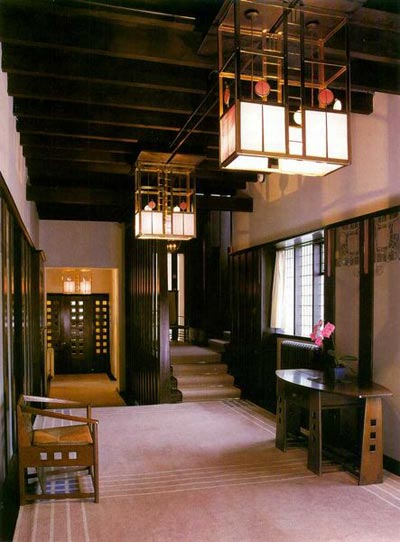 Hill House, Helensburgh, Scotland (Дом на холме в Хелеснбурге, Шотландия). Charles Rennie Mackintosh. Чарльз Рени Макинтош. Интерьер