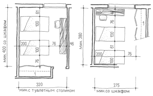 Спальни. Проектирование жилых зданий