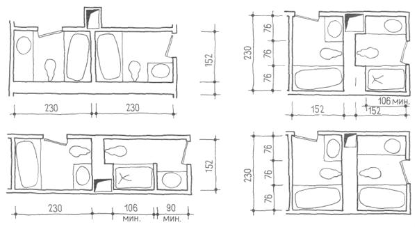 Санитарные узлы. Проектирование жилых зданий