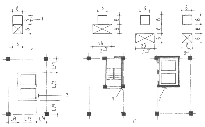 Пересечение плиты перекрытия инженерными коммуникациями. Конструктивные системы. Конструкции жилых домов. Проектирование жилых зданий
