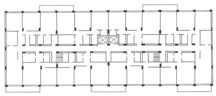 «Разбросанные» колонны (многошаговый каркас). Конструктивные системы. Конструкции жилых домов. Проектирование жилых зданий