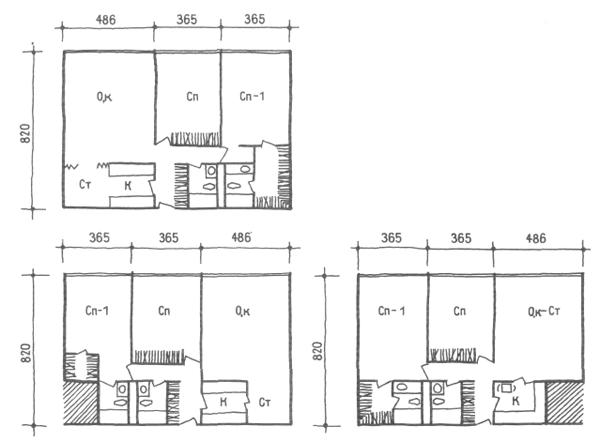 Средняя ширина корпуса. Трехкомнатные квартиры. Коридорные жилые дома. Многоэтажные жилые дома. Медотология проектирования. Проектирование жилых зданий