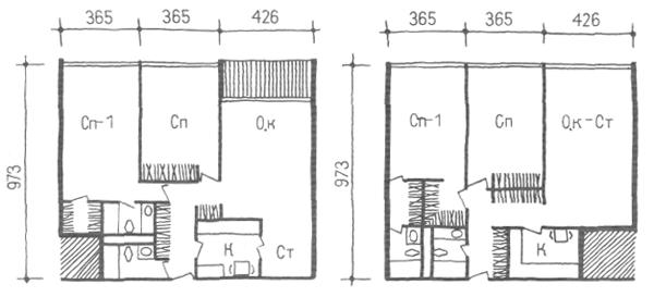 Глубокий корпус. Трехкомнатные квартиры. Коридорные жилые дома. Многоэтажные жилые дома. Медотология проектирования. Проектирование жилых зданий