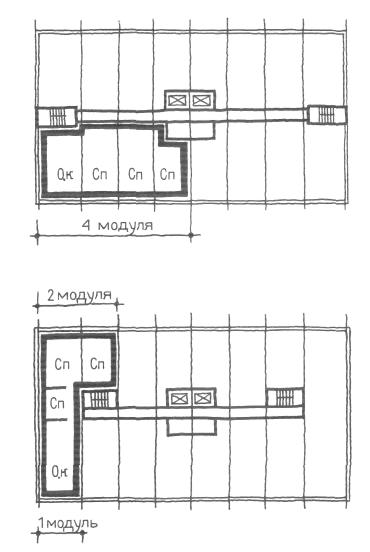 Торцевые квартиры. Коридорные жилые дома. Многоэтажные жилые дома. Медотология проектирования. Проектирование жилых зданий