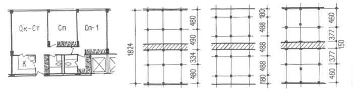 Конструктивное решение. Коридорные жилые дома. Многоэтажные жилые дома. Медотология проектирования. Проектирование жилых зданий