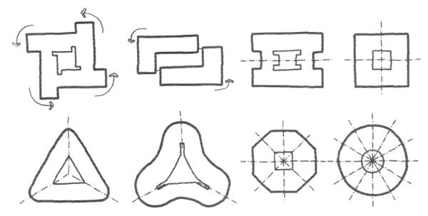 Односекционные жилые дома. Многоэтажные жилые дома. Медотология проектирования. Проектирование жилых зданий