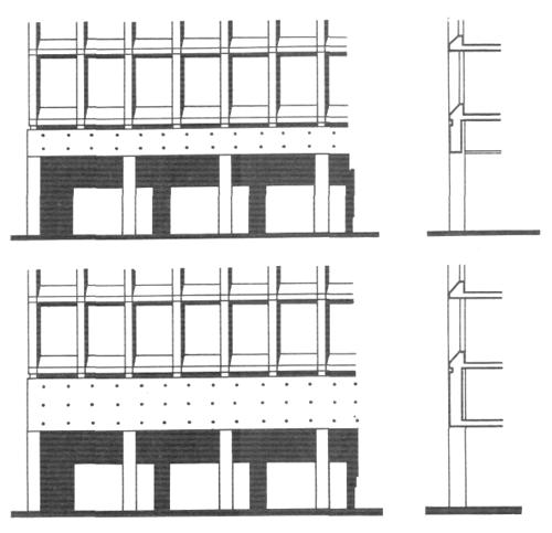 Выраженный каркас. Несущие пролеты. Архитектура многоэтажного жилого дома. Медотология проектирования. Проектирование жилых зданий