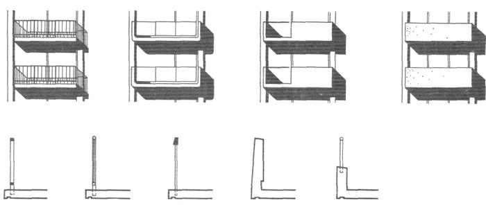 Снип ограждения балконов и лоджий..
