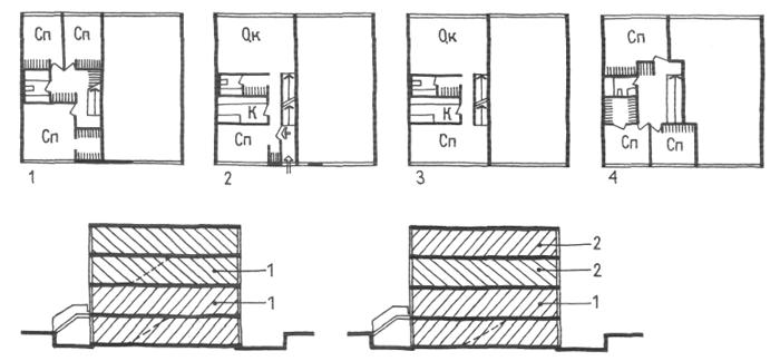 Смешанное решение безлифтовых домов. Малоэтажные жилые дома. Медотология проектирования. Проектирование жилых зданий