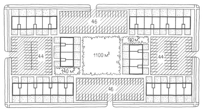 Застройка четырехэтажными безлифтовыми домами. Засторойка жилыми домами малой и средней этажности. Медотология проектирования. Проектирование жилых зданий