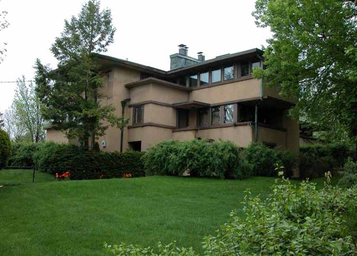 Фрэнк Ллойд Райт (Frank Lloyd Wright): Eugene A. Gilmore House (Airplane House), Madison, Wisconsin (Дом Юджина А. Гилмора, Мэдисон, Висконсин), 1908