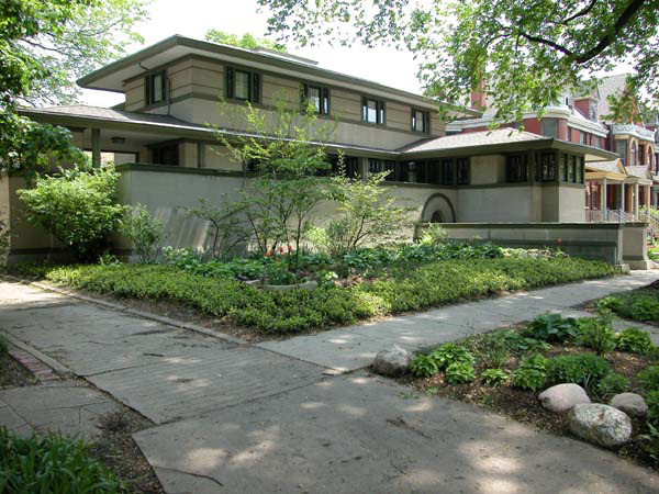 Фрэнк Ллойд Райт (Frank Lloyd Wright): Frank W. Thomas House, Oak Park, Illinois (Дом Фрэнка Томаса, Оак-Парк, Иллинойс), 1901; реставрация 1975