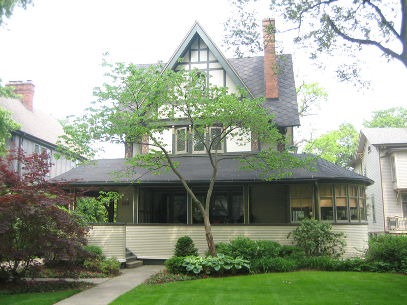 Фрэнк Ллойд Райт (Frank Lloyd Wright): Harrison P. Young House, Oak Park, Illinois (Перестройка дома Г.П. Юнга, Оак-Парк, Иллинойс), 1895
