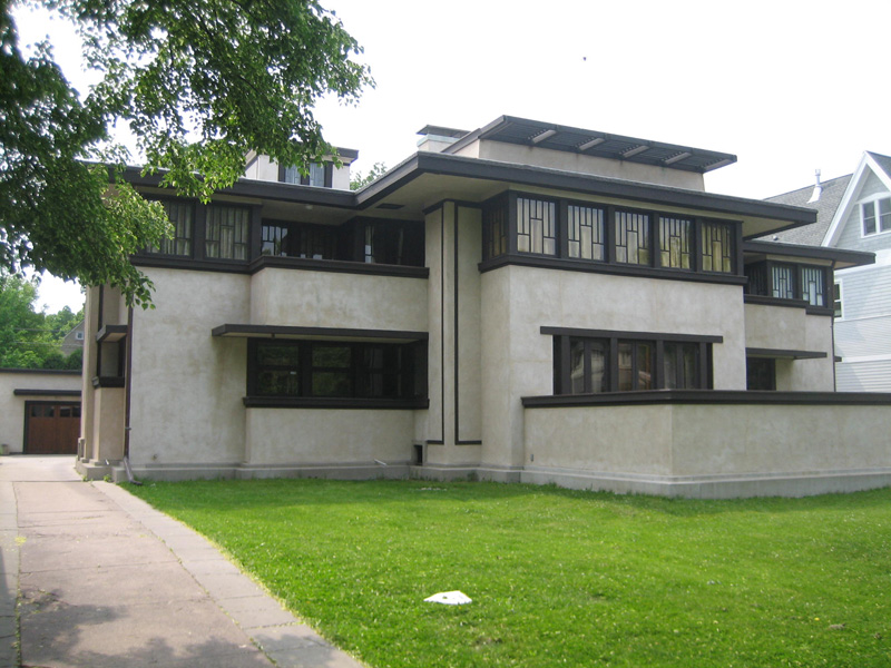 Фрэнк Ллойд Райт (Frank Lloyd Wright): Oscar B. Balch House, Oak Park, Illinois (Дом О.Б. Бэлха, Оак-Парк, Иллинойс), 1911