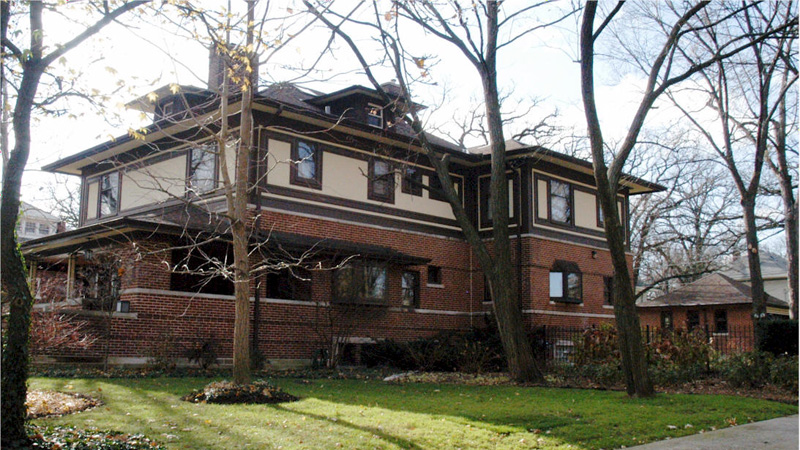Фрэнк Ллойд Райт (Frank Lloyd Wright): William and Jessie M. Adams House, Chicago, Illinois (Дом Уильяма и Джесси Адамс, Чикаго, Иллинойс ), 1900