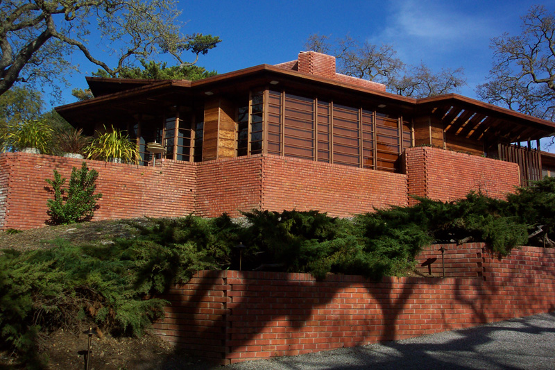 Фрэнк Ллойд Райт (Frank Lloyd Wright): Hanna-Honeycomb House (At Stanford University), Palo Alto, California (Резиденция Hanna-Honeycomb, Стэндфордский университет, Пало Альто, Калифорния), 1937